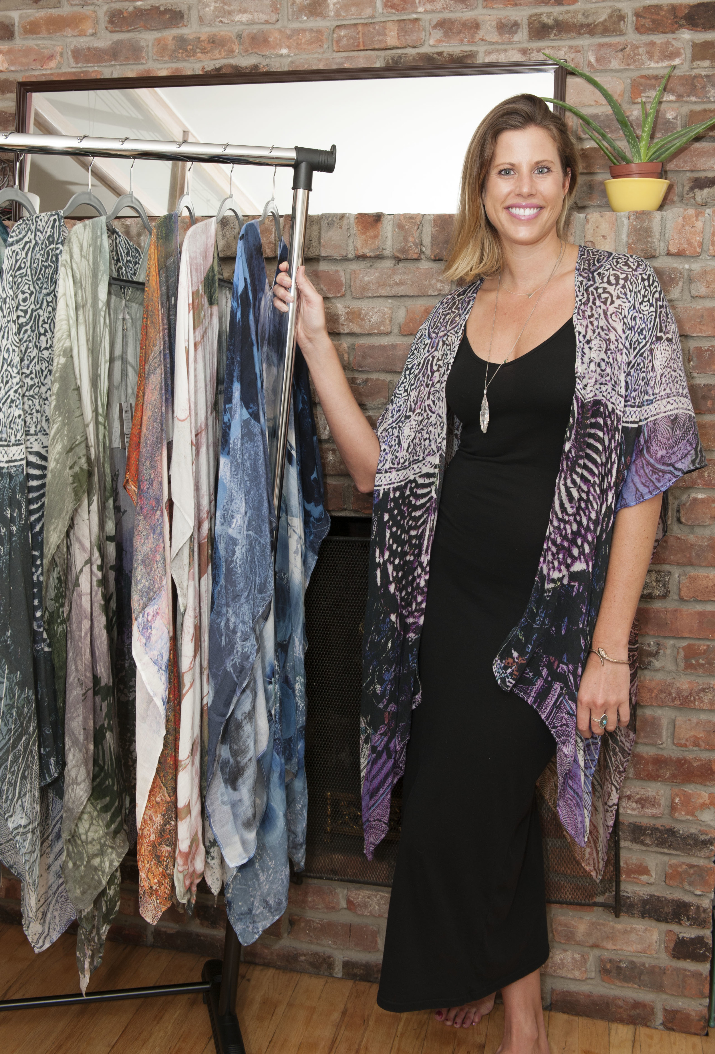 Ashley Smith and some her beautiful free flowing pieces for Otherworld Apparel.