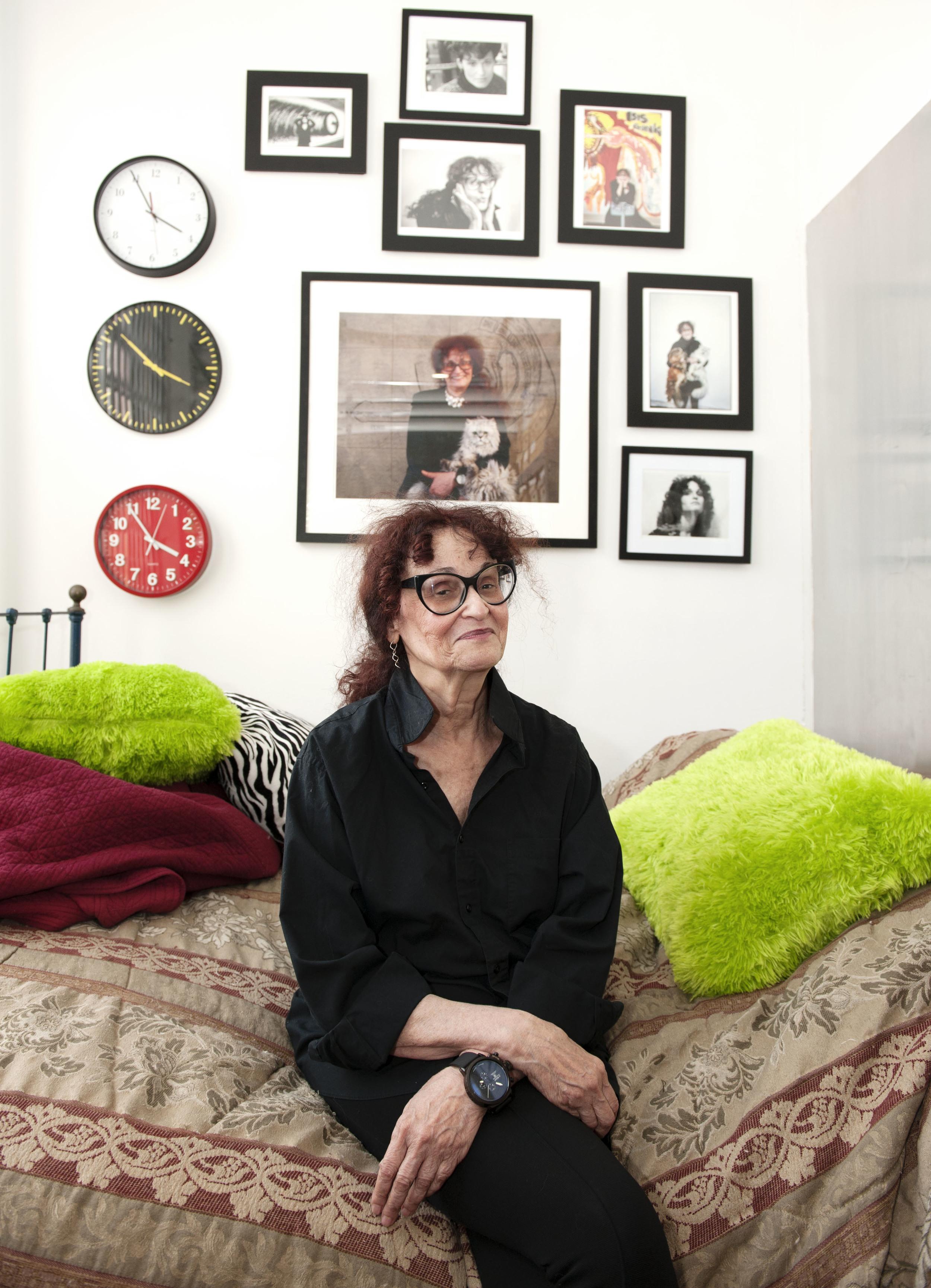 Judith Bernstein in her Chinatown studio.