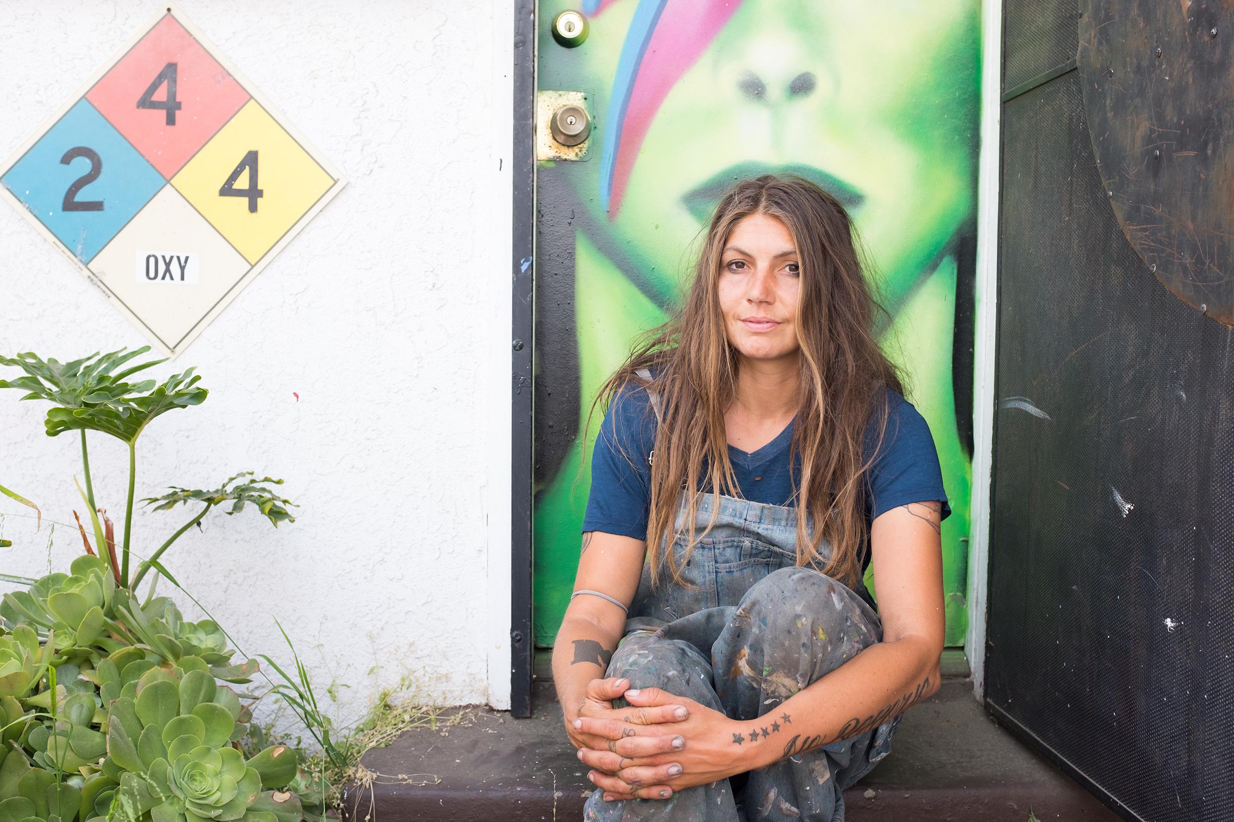Jules Muck, muralist, street and graffiti artist.