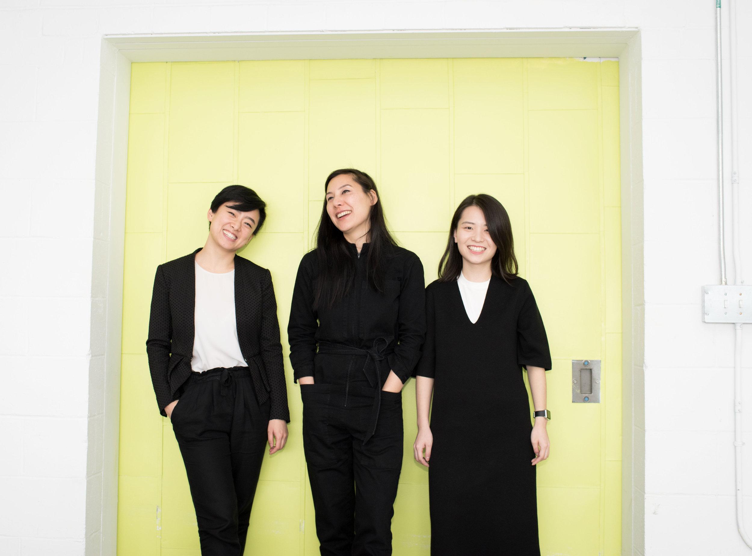 Yuchen Zhang, CEO,Hellyn Teng, Creative Director, Jingwen Zhu, CTO
