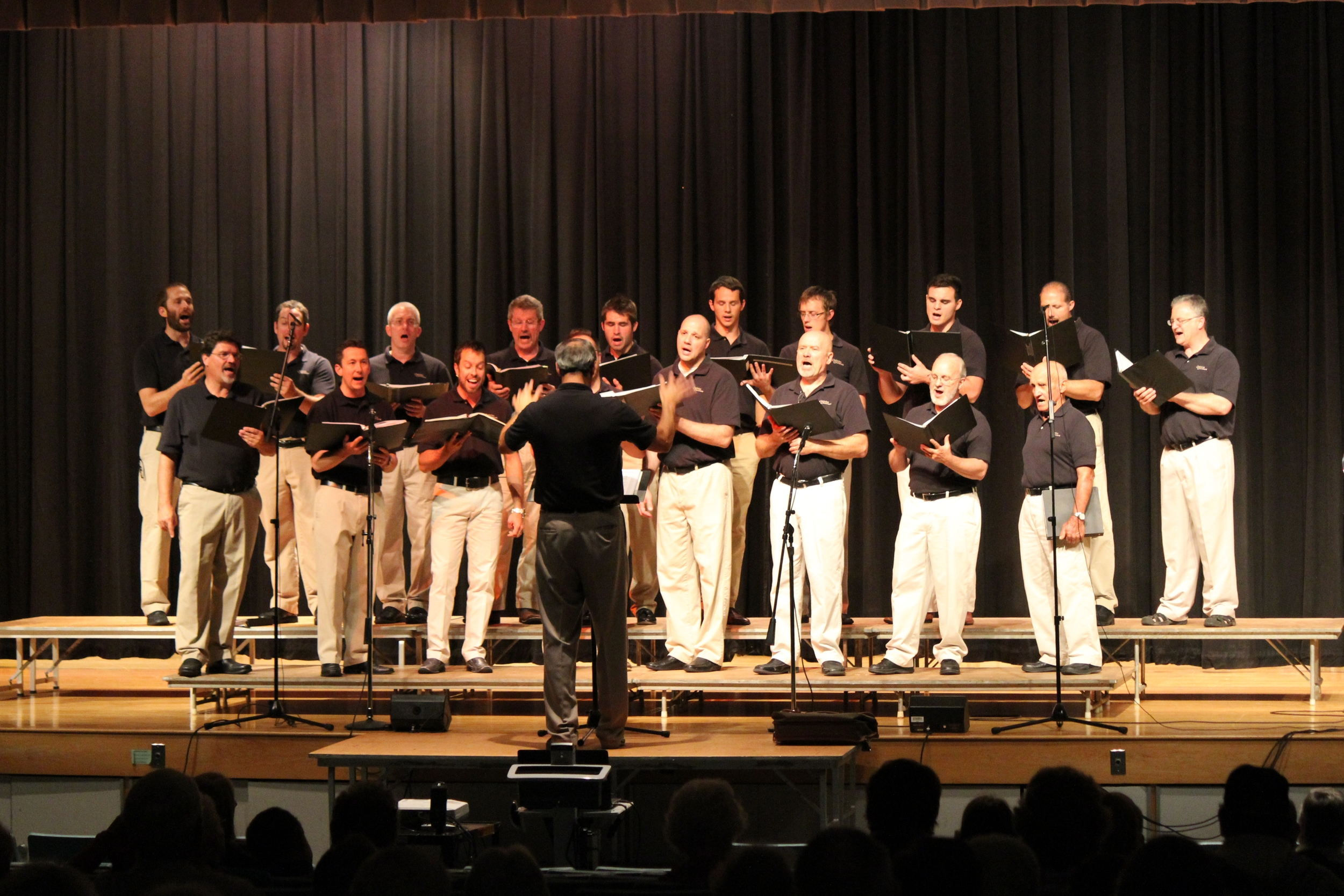 The Christian Choristers sang at the Union City High School on Saturday, September 13, 2014.