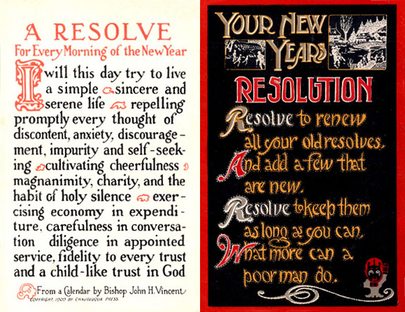 From a 1915 New Year's Postcard .