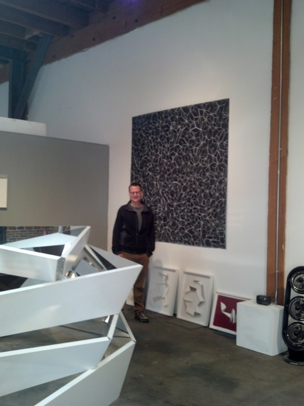 Timothy Nolan in his studio in DTLA.