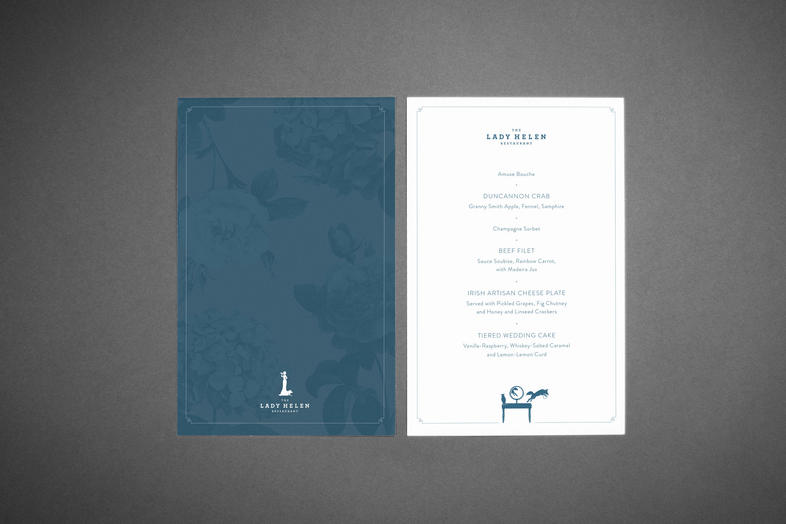 Custom Wedding Collateral (Dinner menu) by Maystorm Studio