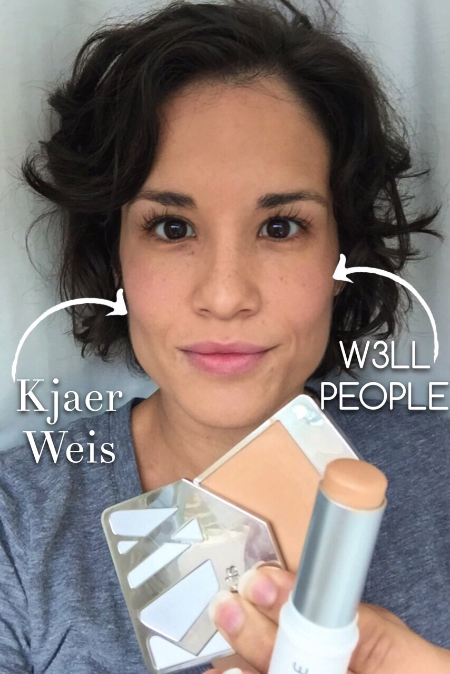 Kjaer Weis and W3LL People Narcissist Stick: A Non-Toxic Cream Foundation Comparison - janny: organically.