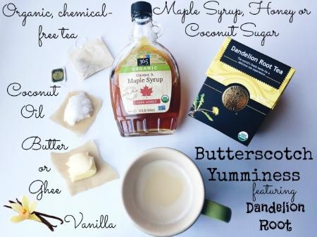 Dandelion Root Tea ~ Butterscotch Recipe! janny: organically #dandelion #butterscotch #detox