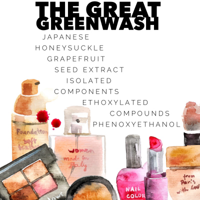 """Common Greenwashed Ingredients in """"Natural Beauty""""   janny: organically."""