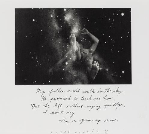 Duane Michals, My Father Could Walk in the Sky, 1989