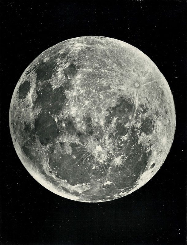 James Nasmyth,  The Moon: Considered as a Planet, a World, and a Satellite , 1885. Plate IV: Full Moon.