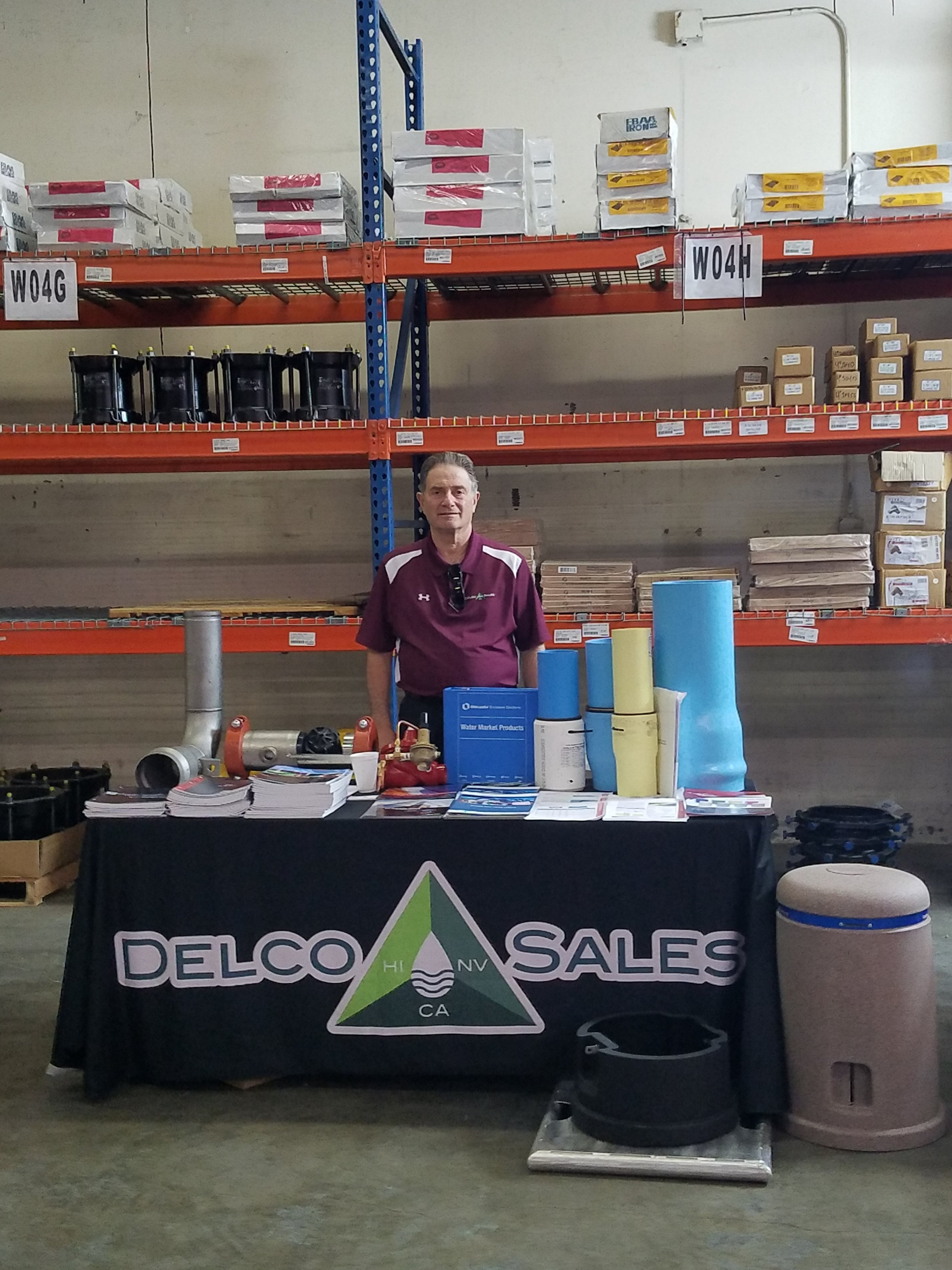 Bruce Chiaro of our Waterworks team set up for a counter day.