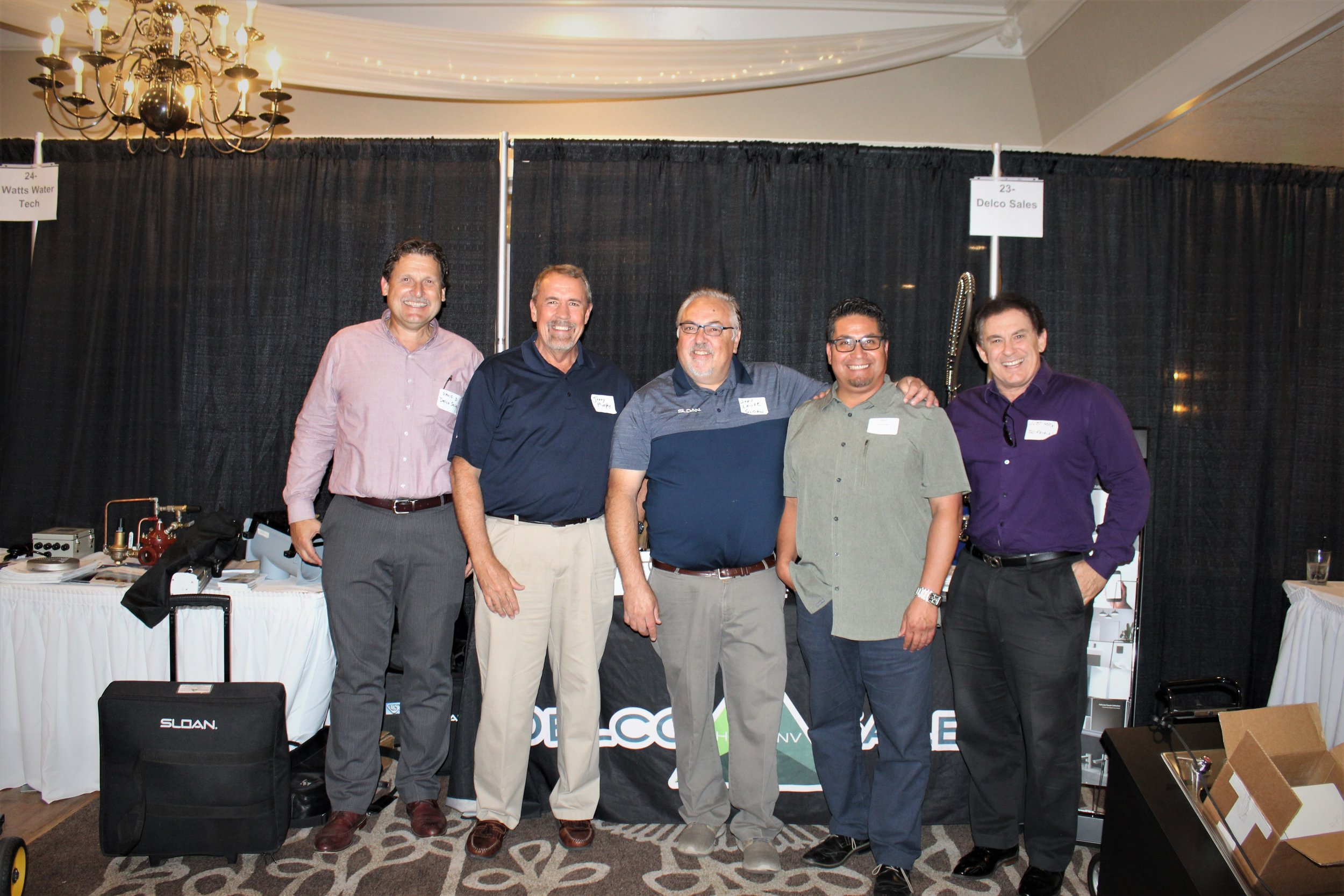 The A Team (from left to right): David David, Jerry Murphy, Sloan Director of Sales – Western Region John Lauer, Alex Jimenez, and Tod Reveles