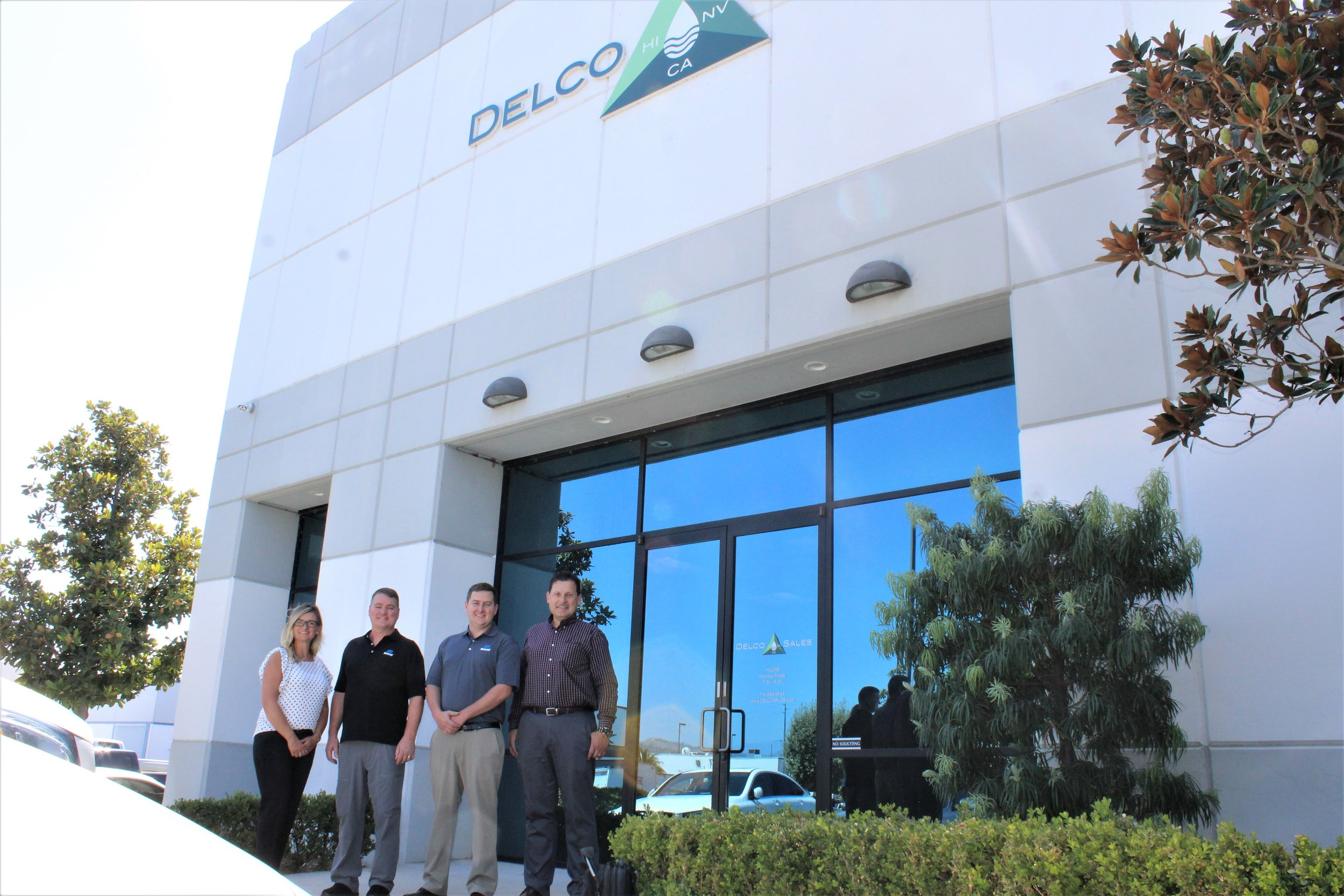 From Left To Right:   Renee Hampton (Director of Design and Specification), Stacey Wade (Sales), Jacob Ryan (Plant Manager), David David (Facilities Specifications Manager).