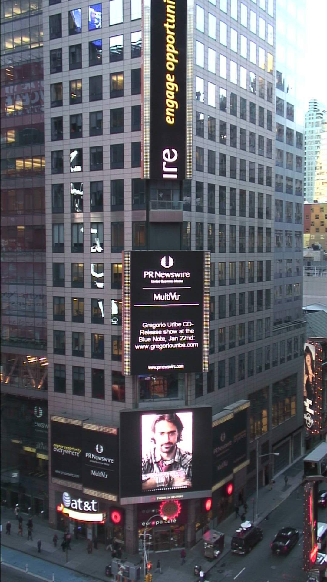 Times Square Electronic Billboard
