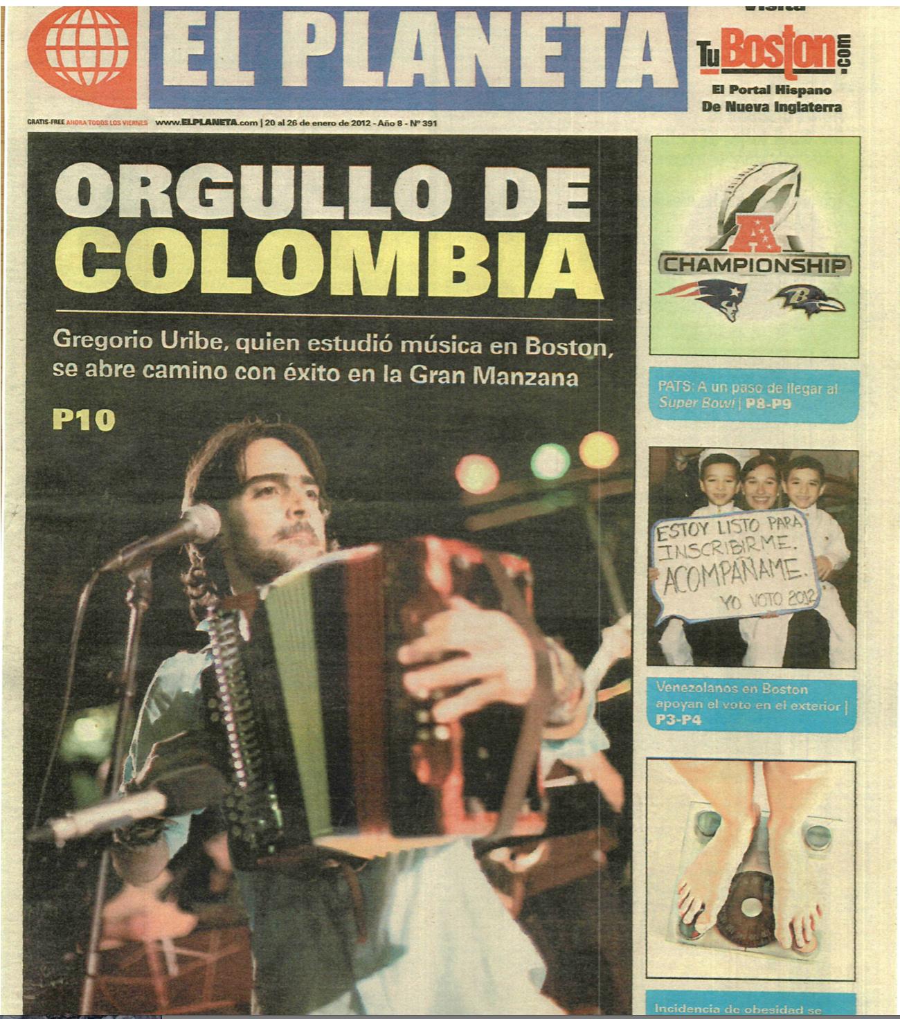 """El Planeta Boston, """"Colombian Pride"""""""