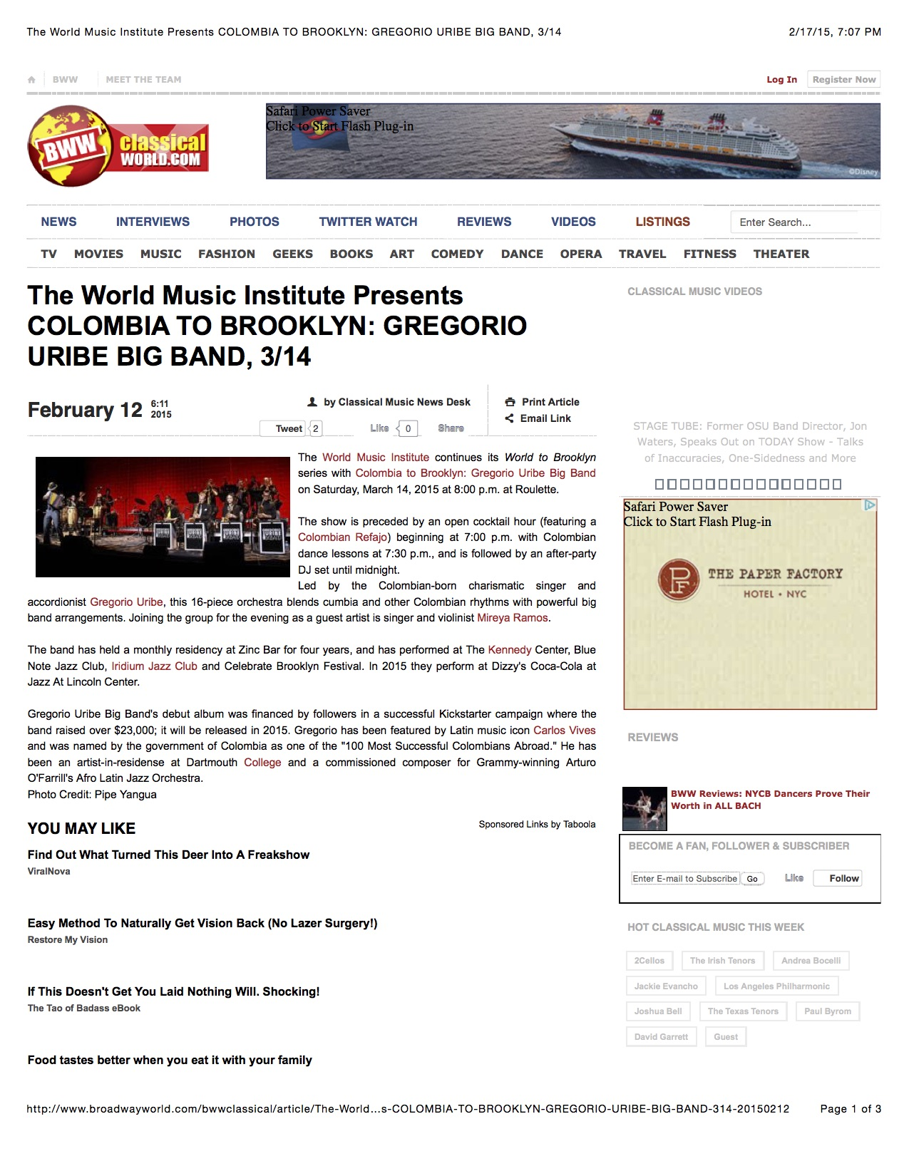 From Colombia to Brooklyn - World Music Institute