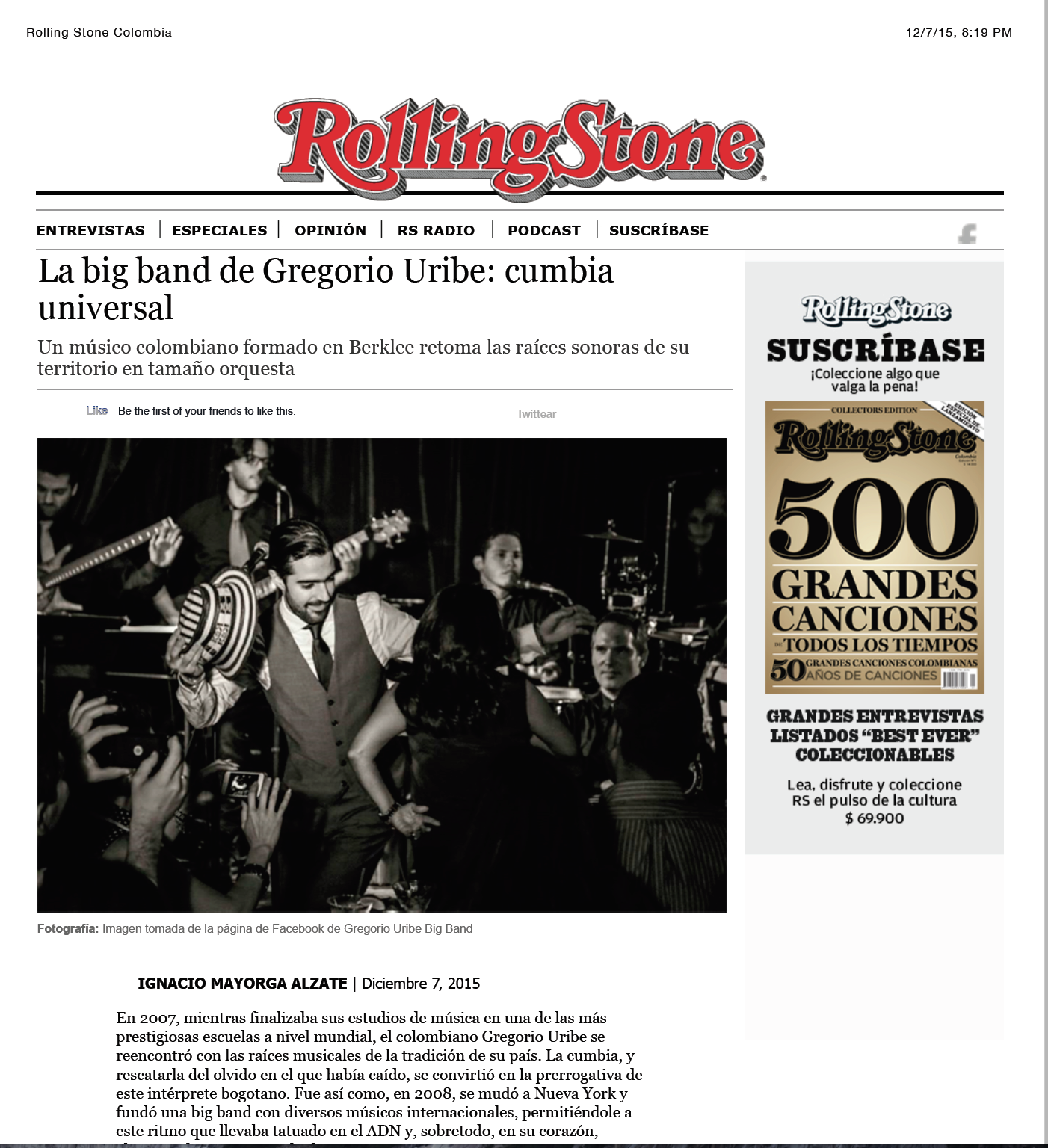 Rolling Stone - Colombia