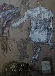 Dawit Abebe, X Privacy 4, 2014, mixed media drawing on paper, 140cm by 100cm