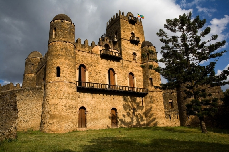The fortress-city of Fasil Ghebbi - one of the UNESCO World Heritage Sites - was the residence of the Ethiopian emperor Fasiledes and his successors in the 16th and 17th centuries.  Gondar - was founded in 1635 by Emperor Fasil as a capital of Ethiopia known as Abyssinia during that era -was home to a number of emperors and warlords, courtiers and kings. And it is one of Ethiopia's largest and most impressive towns today.