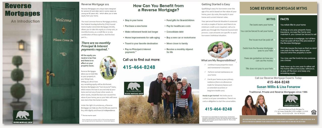 View our  Reverse Mortgage Brochure  for more information.