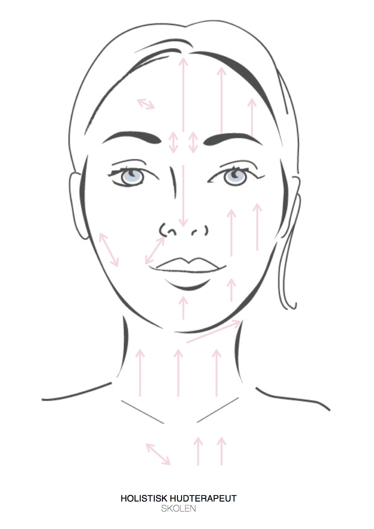 lifting massage med jaderulle rosakvarts rulle rose quartz face roller massage illustration