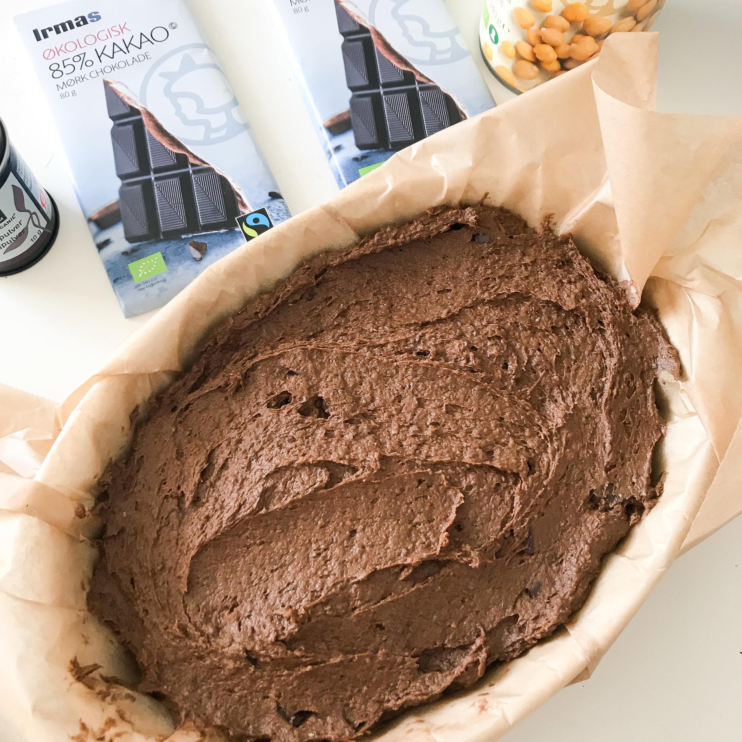 kikærte  bønne sukkerfri chokoladekage brownie mælkefri glutenfri