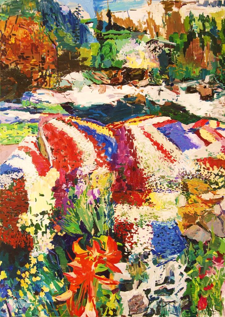 Paradis , 2011 Acrylic on canvas 213 x 152 cm
