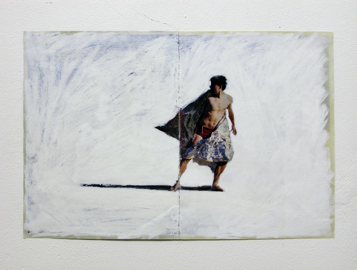 Jack , 2003 Mixed media on magazine 29,5 x 44,5 cm