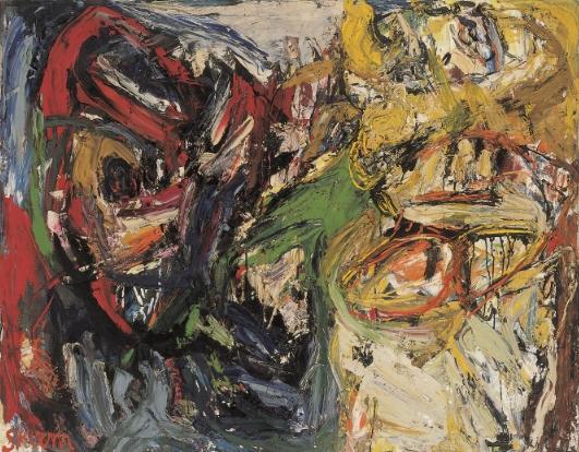 Ungleiche Zwillinge , 1960 Oil on nettle 110 x 140 cm