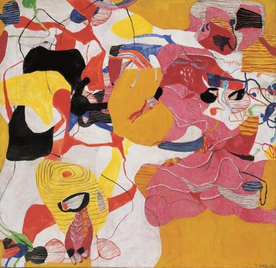 Rosenrot , 1963 Oil on canvas 150 x 155 cm