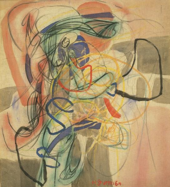 Tanz der Salome , 1964 Oil on nettle 107 x 95 cm