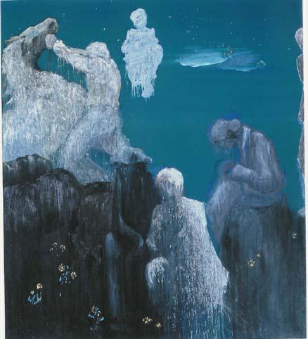 Untitled, 2005 Egg tempera on canvas 250 x 180 cm