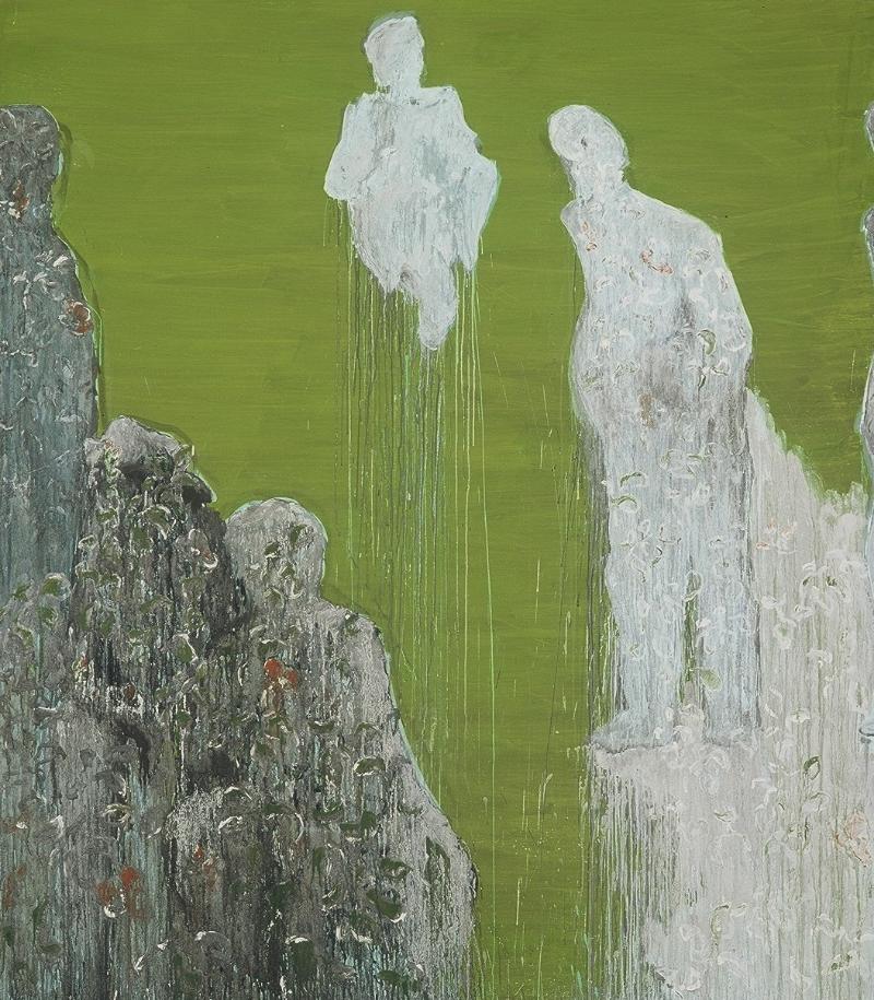 Untitled, 2005 Egg tempera on canvas 280 x 190 cm