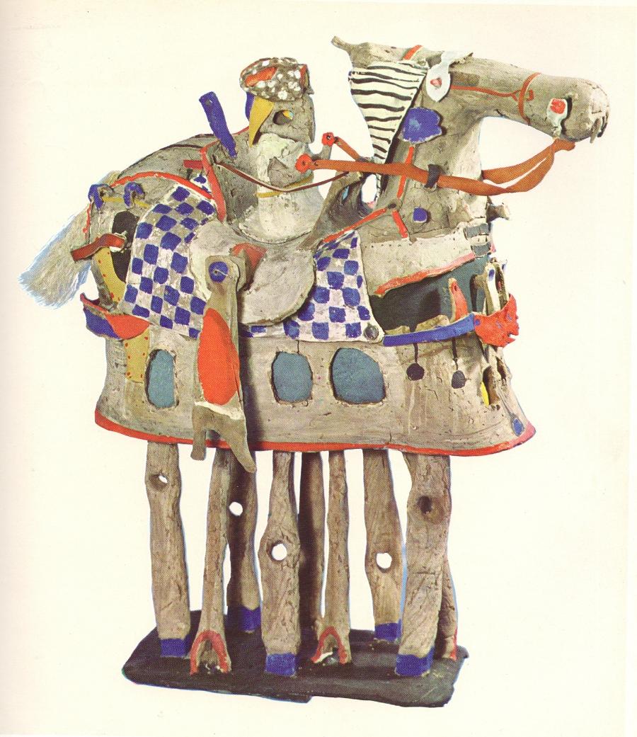 Lothar Fischer  Reiterschiff , 1963 Burned clay Private collection