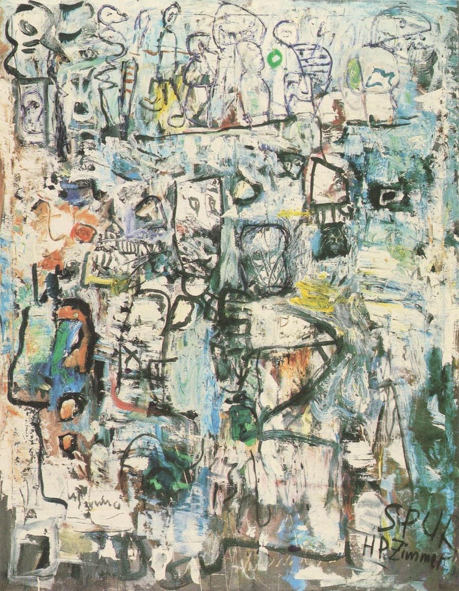 HP Zimmer Die oberen Zehntausend, 1959 Oil on canvas 140 x 110 cm Private Collection