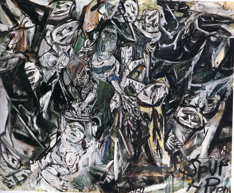 Heimrad Prem, Helmut Sturm Sturz (Passion), 1960 Oil on canvas 150 x 190cm Private Collection