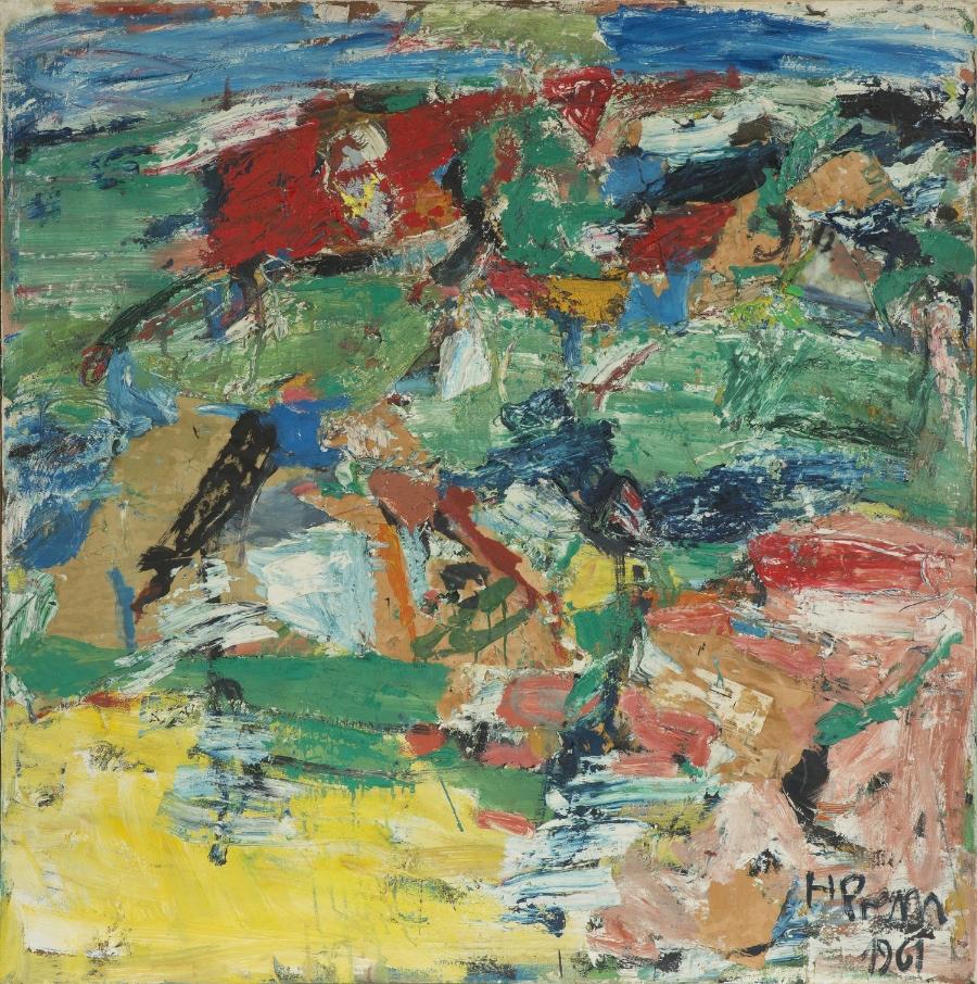 Landschaft , 1961 Oil on canvas 124 x 121 cm