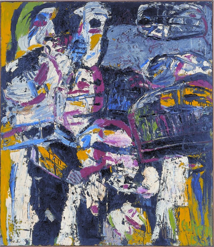 Gesicht einer Landschaft , 1961 Oil on canvas 152 x 120 cm