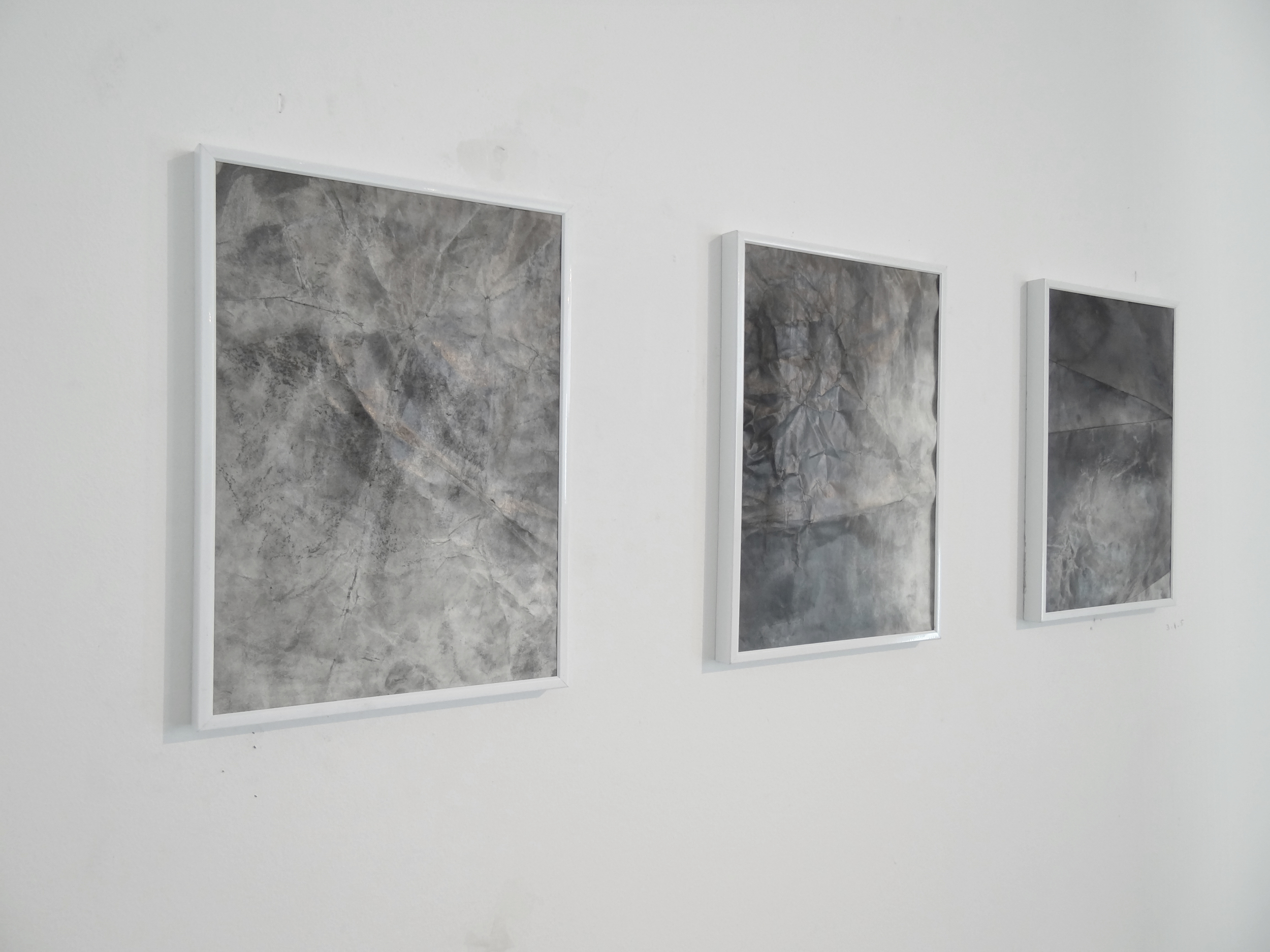 Bruno Albizzati Untitled series, 2014 Graphite and charcoal powder on paper 30 x 20 cm each