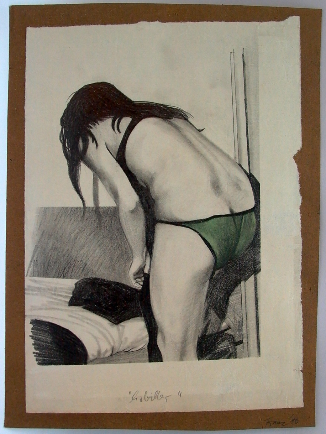 Habiller , 2010 Pencil and gouache on paper 38,5 x 28,5 cm