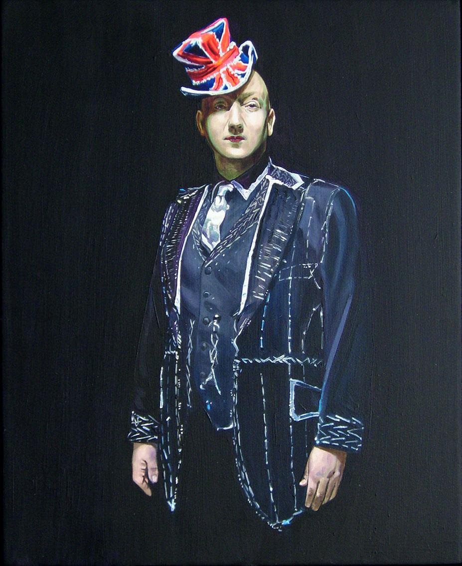 Piot Brehmer  Good Bye Mr Jones , 2015 Oil on MDF (framed) 39,5 x 32,5 cm (45 x 37 cm)