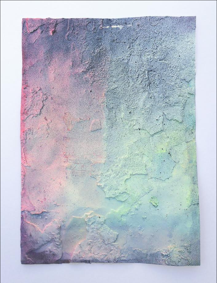 Bruno Albizzati Untitled ( burnt 3 ), 2015 Pastel, acrylic paint and paraffin on paper 29,7 x 21 cm