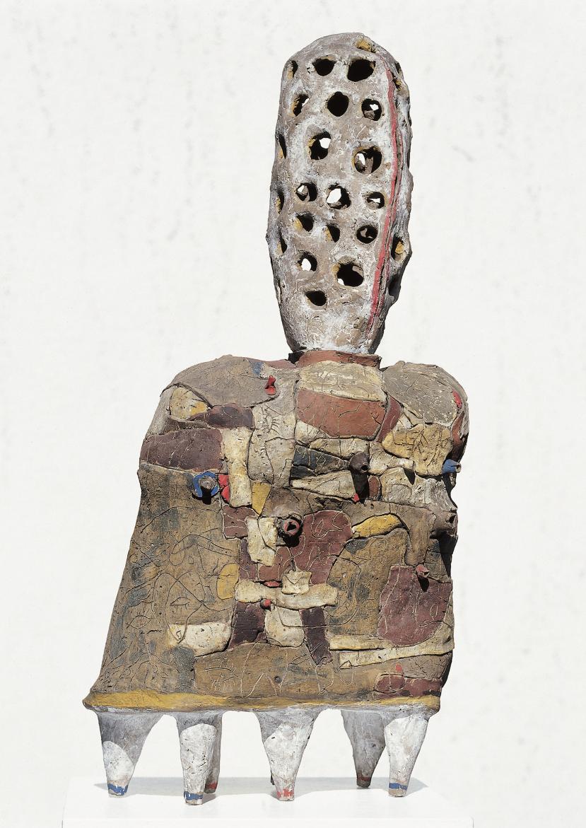 Lothar Fischer  Orpheus , 1961 Bruned clay, painted 84 x 39 x 20 cm