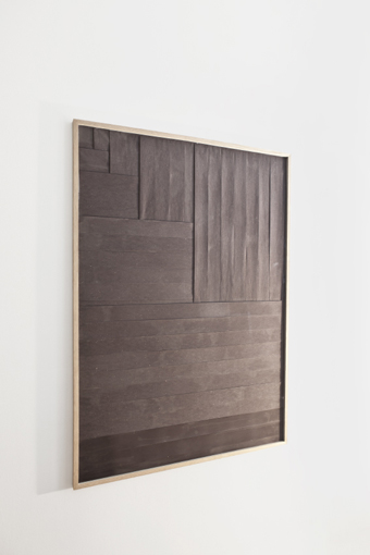 Burned Up, A  , 2013   Burned sales receipts   122 x 87 cm
