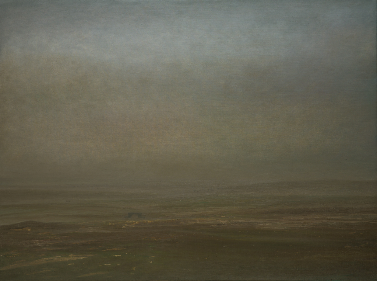 Untitled  (The spring of Mongolian gobi ), 2016 Oil on canvas 100 x 200 cm