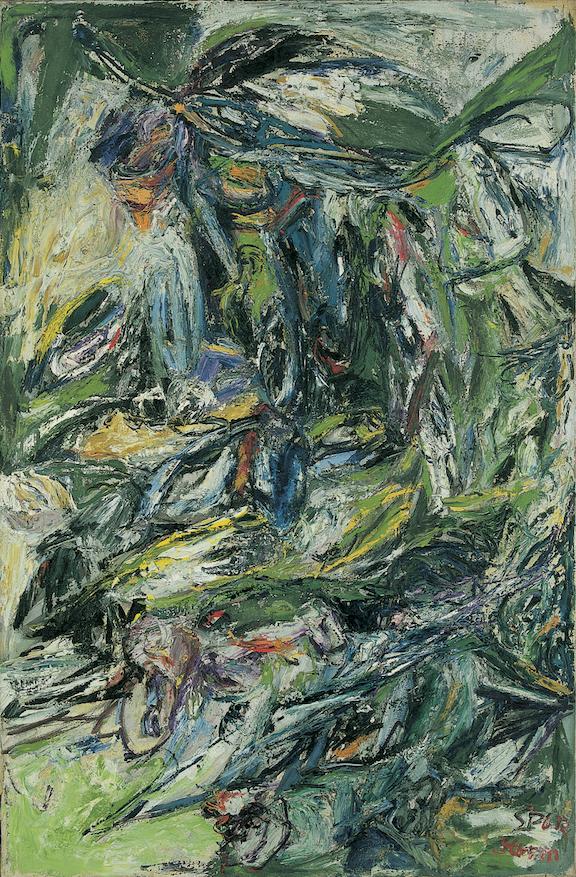 Schuebbe Inc, Helmut Sturm (Gruppe SPUR), ohne Titel, 1961, Oil on canvas, 146 x 95 cm.png