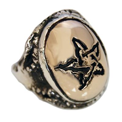 Bronze Angel Heart Ring
