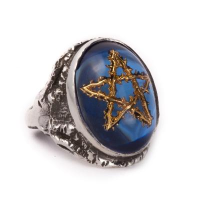 藍色金荊棘星 - Blue with Gold Thorn Star