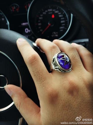 China  Purple Angel Heart Ring