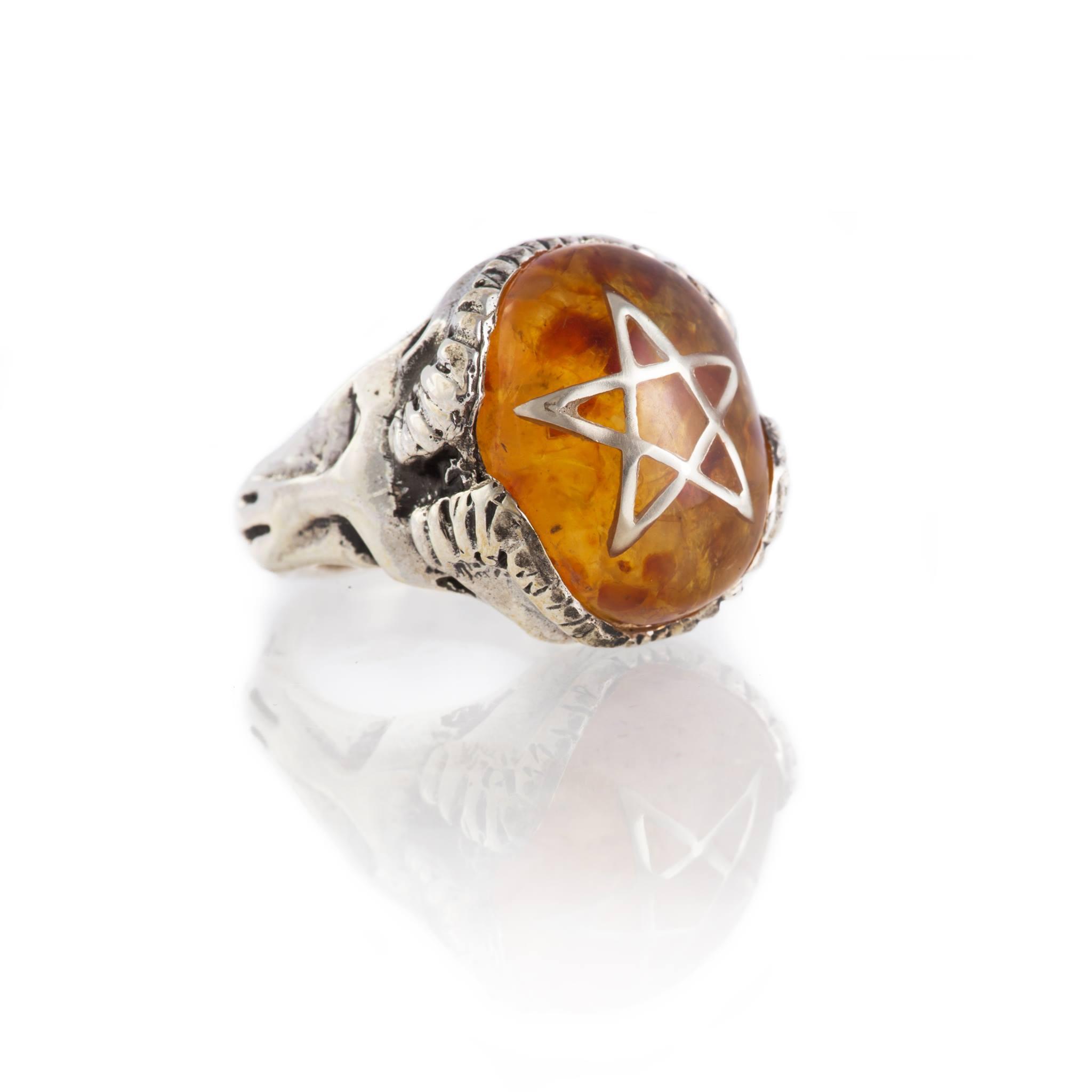 Devil Heart Ring - Amber