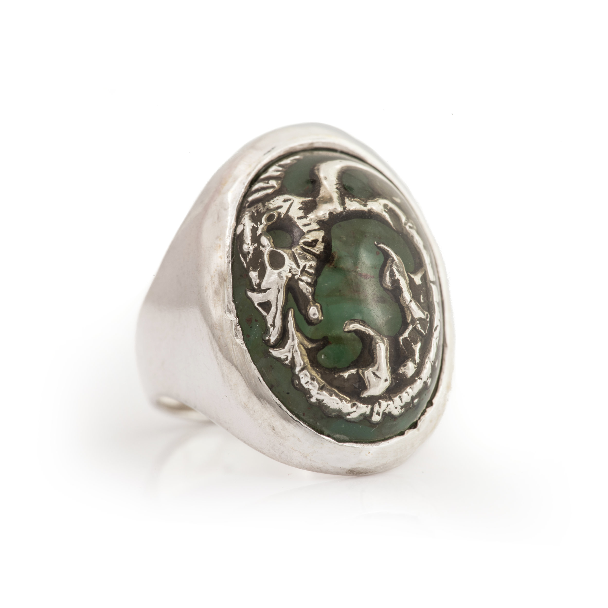 Fossil Dragon Ring - 綠玉瓍